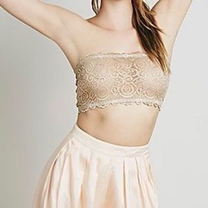 Free people nude reversible lace bandeau. NUDE